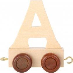 Dekoracja SMALL FOOT wagon do lokomotywy z literą A