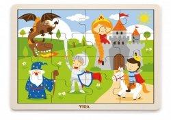 Viga 51458 Puzzle na podkładce 16 elementów - Bajkowy zamek