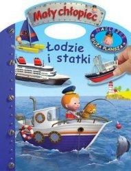 KS44 Łodzie i statki. Naklejki – Duża plansza. Mały chłopiec
