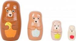 SMALL FOOT Matryoshka zabawka dla dzieci - Niedźwiedzie