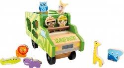 SMALL FOOT Samochód z Klockami Safari - Układanka dla dziecka