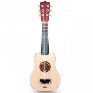 Viga Drewniana gitara dla dzieci Naturalna 21 cali 6 strun
