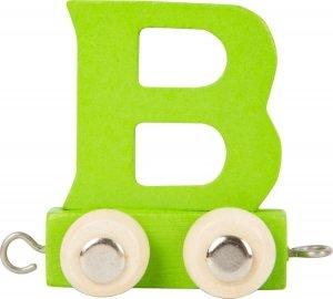Dekoracja SMALL FOOT wagon do lokomotywy z literą B (kolor zielony)