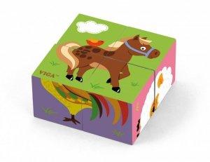 Viga 50835 Kostki puzzle - farma