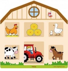 Viga 51627 Tablica manipulacyjna otwórz i zamknij - Farma
