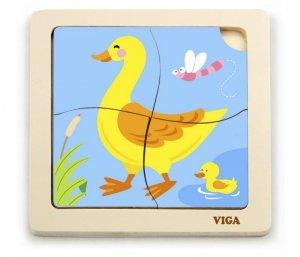 Viga 51314 Puzzle na podkładce - Kaczuszka