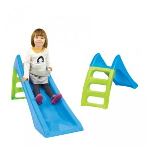 WOOPIE Zjeżdżalnia Ogrodowa dla dzieci ze ślizgiem wodnym Fun Slide 116 cm Niebieska