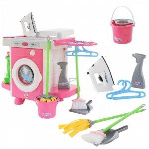 Pralka dla dzieci Żelazko zestaw 24 akcesoria Serwis Sprzątający