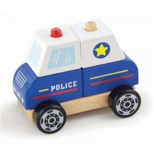 Viga Drewniany Wóż Policyjny dla najmłodszych