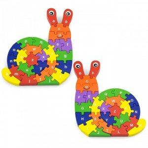 Drewniana układanka Puzzle Ślimak 3D Viga Toys
