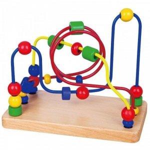 Przeplatanka Sensoryczna Drewniana Edukacyjny Labirynt Viga Toys