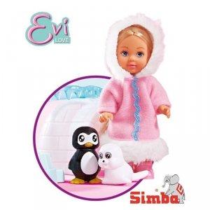 SIMBA Lalka Evi Love Zimowa + foka i pingwin