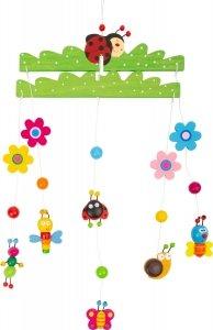 SMALL FOOT Spring Dream Mobile - karuzela z kolorowymi kwiatkami, motylami i ślimakami
