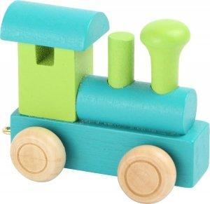Dekoracja SMALL FOOT Drewniana Lokomotywa (zielono niebieska)