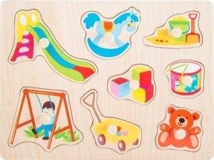 SMALL FOOT Puzzle Toys - drewniane puzzle Zabawki