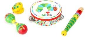 SMALL FOOT Zestaw Instrumentów dla dzieci Bardzo Głodna Gąsienica