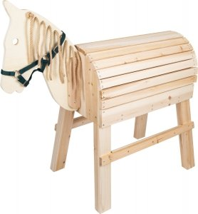 SMALL FOOT - drewniany koń