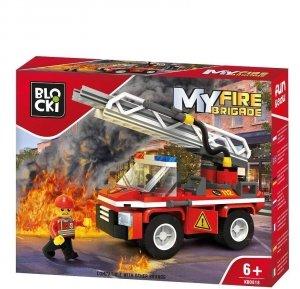 Klocki Blocki MyFireBrigade Wóz strażacki z podnośnikiem 109 el.