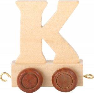 Dekoracja  SMALL FOOT wagon do lokomotywy z literą K