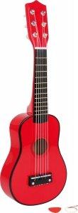SMALL FOOT Czerwona gitara dla dzieci