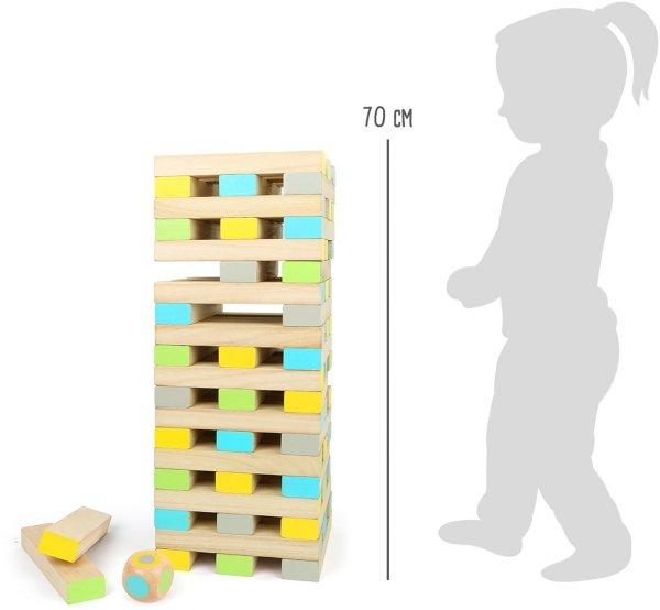 "SMALL FOOT XXL Wobbly Tower ""Active"" - gra Jenga XXL"