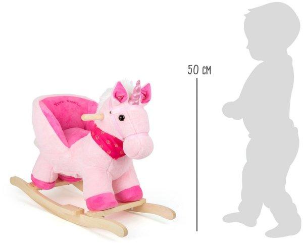 SMALL FOOT Rocking Unicorn with Sound - konik na biegunach z dźwiękiem (jednorożec)
