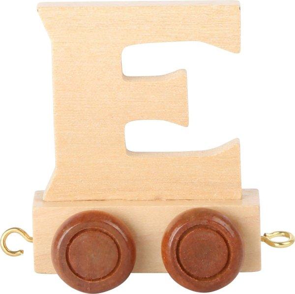 Dekoracja SMALL FOOT wagon do lokomotywy z literą E