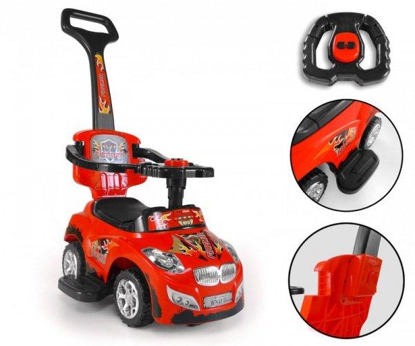 Milly Mally Jeździk 3w1 Pojazd Happy Red (0260, Milly Mally)