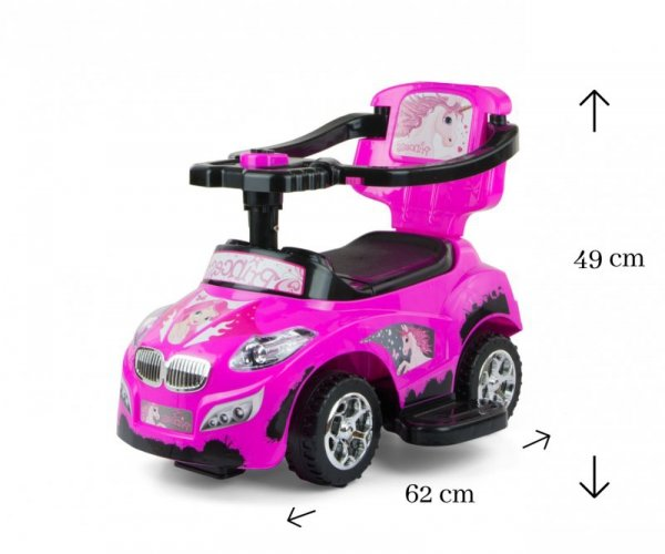Milly Mally Jeździk 3w1 Pojazd Happy Pink (0262, Milly Mally)