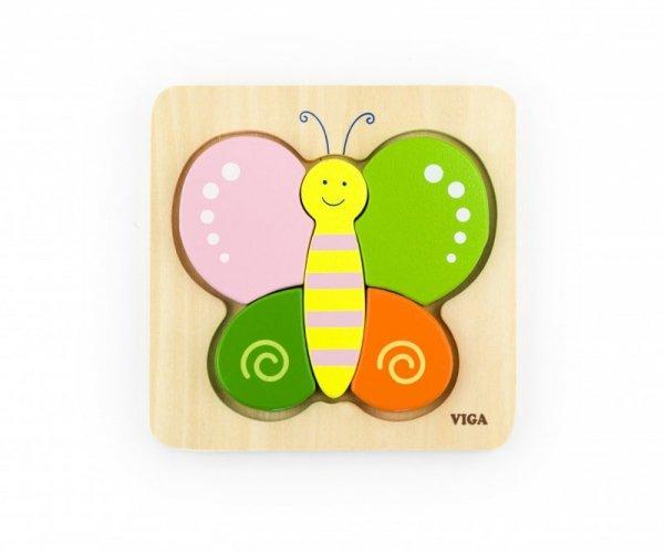 Viga 50170 Pierwsze puzzle maluszka - motyl