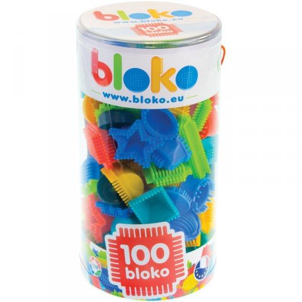 Mochtoys Klocki Wafle Jeżyki BLOKO  100 Elementów w Tubie