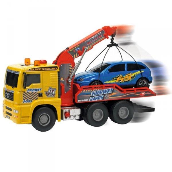 DICKIE Laweta MAN z pompką Air Pump 55cm + samochód osobowy