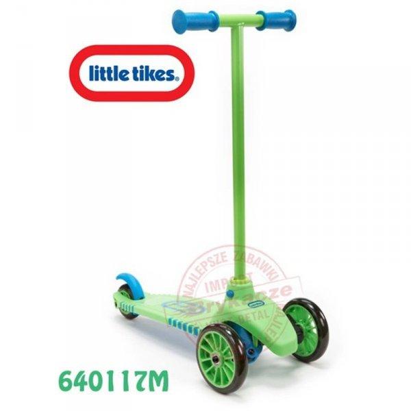 LITTLE TIKES Hulajnoga CICHE Koła Skrętne trzykołowa zielono niebieska