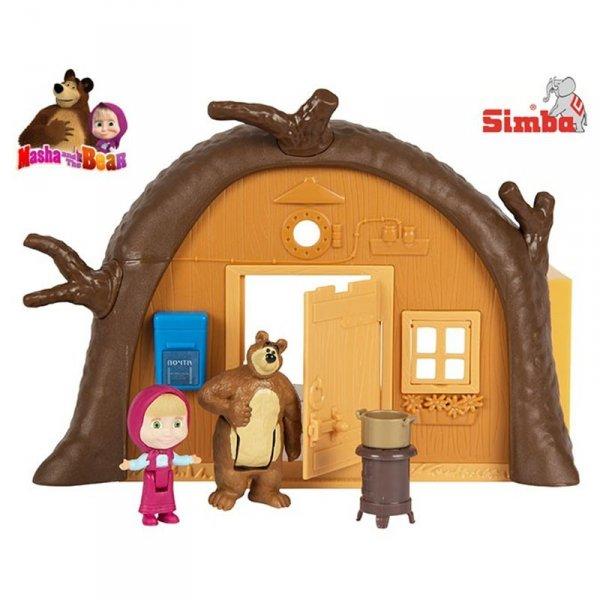 Simba Masza i Niedźwiedź Domek Niedźwiedzia Z Figurką Przenośny Rozkładany