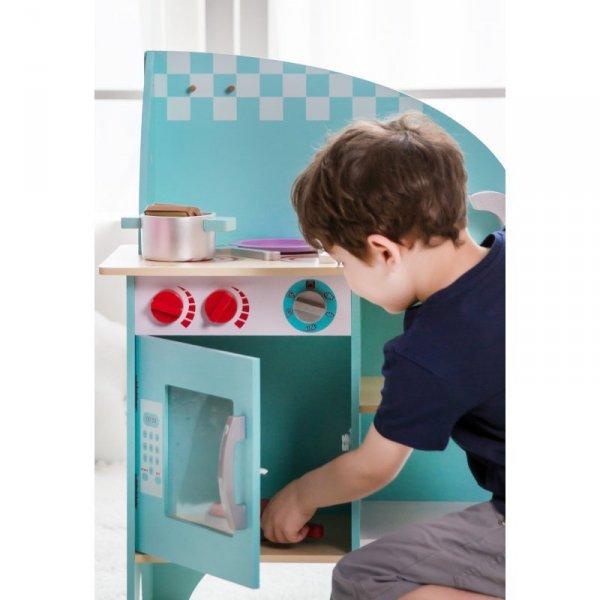 Kuchnia Dla Dzieci Drewniana Niebieska Classic World