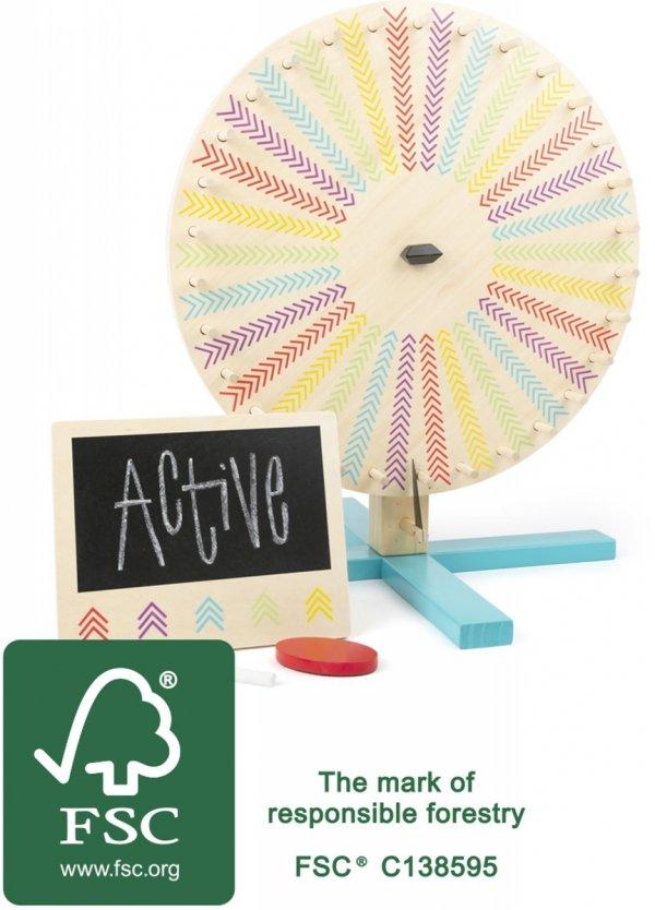 """SMALL FOOT Fortune Wheel """"Active"""" - koło fortuny dla dzieci"""
