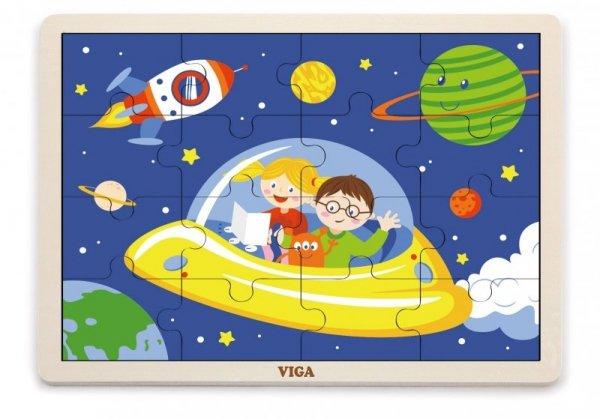 Viga 51457 Puzzle na podkładce 16 elementów - Kosmos