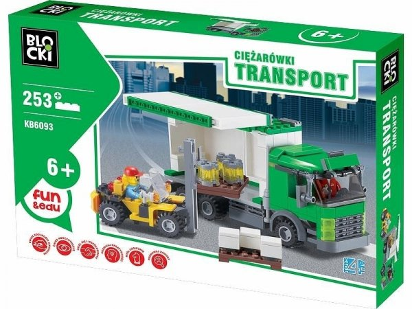 Klocki Blocki Transport Ciężarówki 253 el.