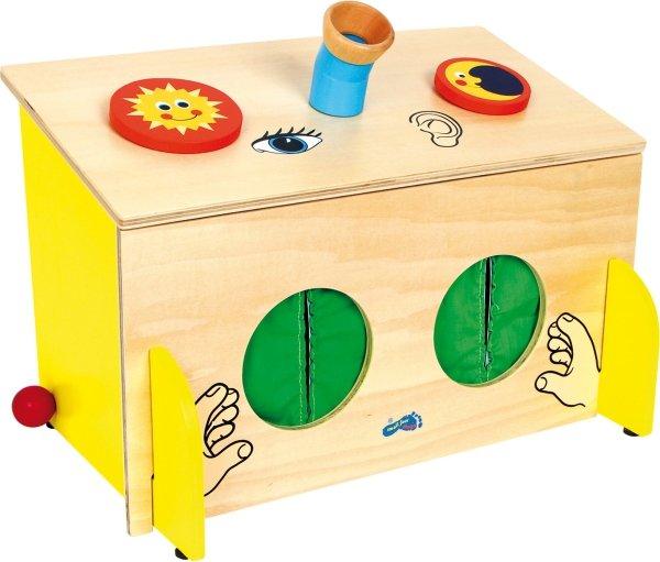 SMALL FOOT Sensoryczne Pudełko Edukacyjne - zabawka dla dzieci