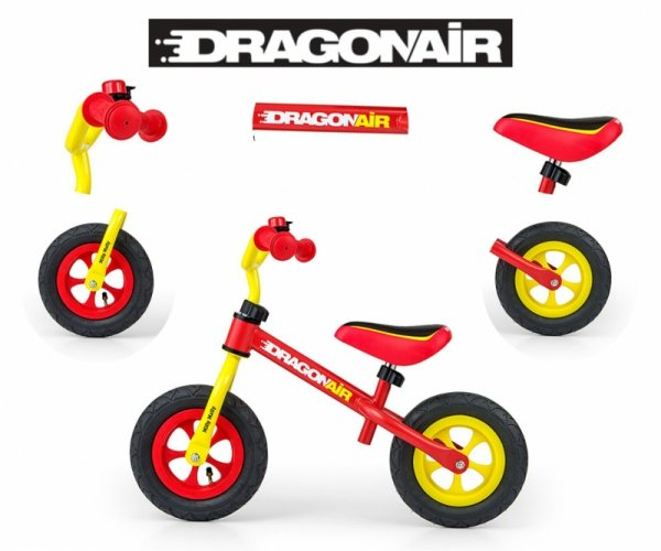 Rowerek Biegowy Dragon Air Yellow-Red
