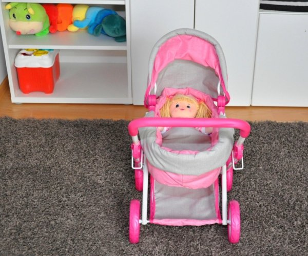 Wózek dla lalek Alice Prestige Pink
