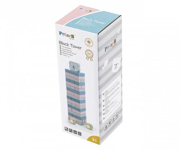 Viga 44011 PolarB Gra układanka wieża z Misiem