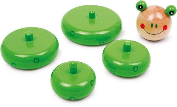 SMALL FOOT Piramida zabawka do składania - żabka