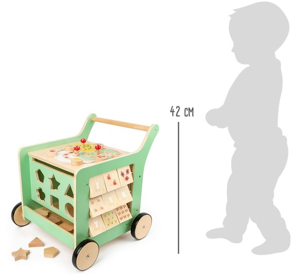 "SMALL FOOT Walker ""Move it!"" - edukacyjny wózek pchacz"