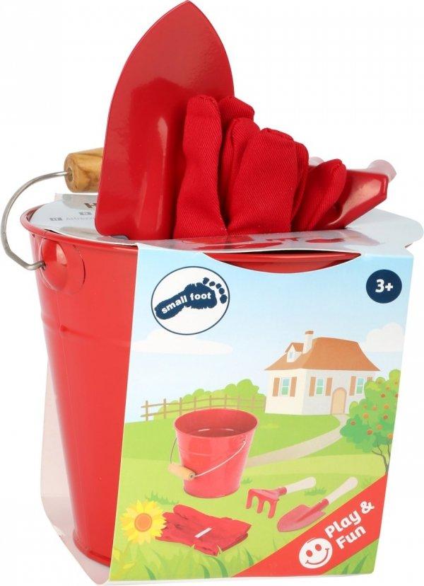SMALL FOOT Little Garden Helpers with Bucket - zestaw małego ogrodnika z wiaderkiem