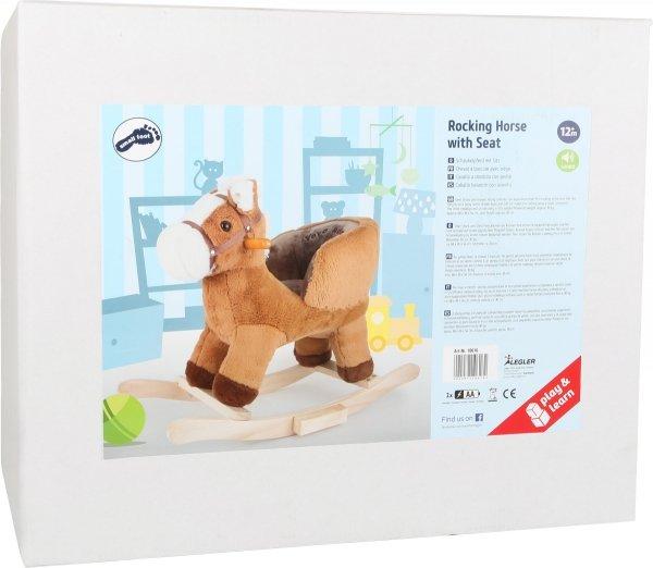 SMALL FOOT Rocking Horse with Seat - konik na biegunach z siodełkiem