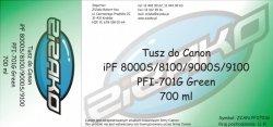Tusz zamiennik Yvesso PFI-701G Green 700ml do Canon iPF8000S iPF8100 iPF9000S iPF9100 CF0907B001AA