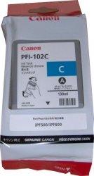 Tusz CANON PFI-102C 130 ml cyan do IPF500/510/600/605/610/650/655/710/720/750/755/760/765 LP17/24