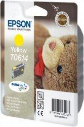 Wkład żółty do Epson Stylus D88/D68PE/DX4800/3850/4850/3800. Wydajność 400 stron. T0614