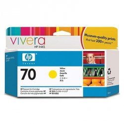 Tusz HP 70 yellow (130ml) Vivera C9454A